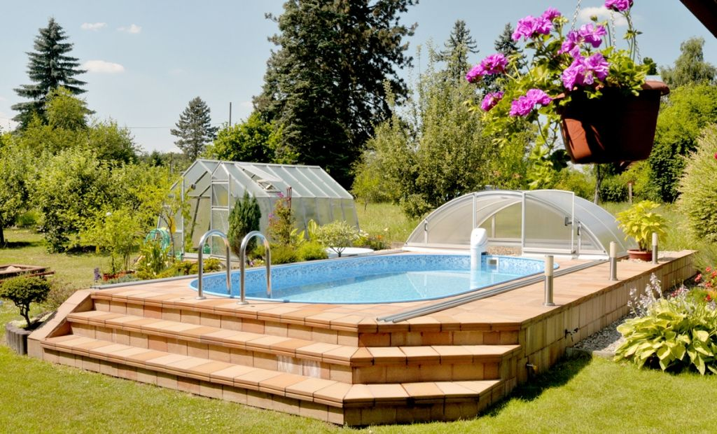 Swimmingpool aufstellbecken albixon for Garten pool tiefe